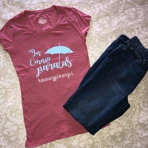 "Tops - New ""In Omnia Paratus"" Gilmore Girls Shirt"
